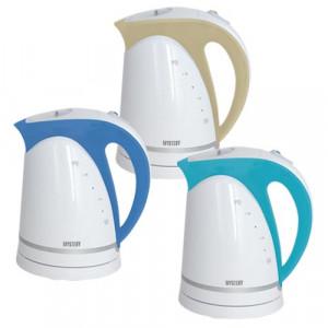 Чайник электрический  пластиковый Mystery MEK-1616 white/aqua