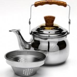 Чайник-заварник  металлический со свистком 1л. Mayer&Boch MB-23513