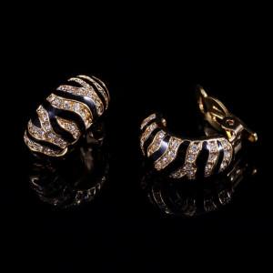 Серьги Золотой Тигр