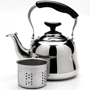 Чайник-заварник  металлический со свистком 1л. Mayer&Boch MB-23511