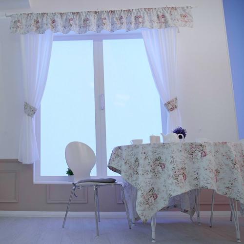 Коллекция текстиля скатерть и тюль Оливия